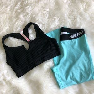 Nike Teal Dry Fit Capri Leggings